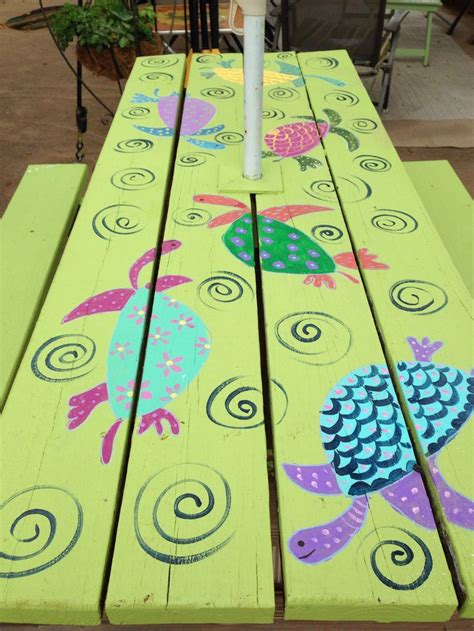 cool painted picnic tables 45 best images about picnic table ideas on