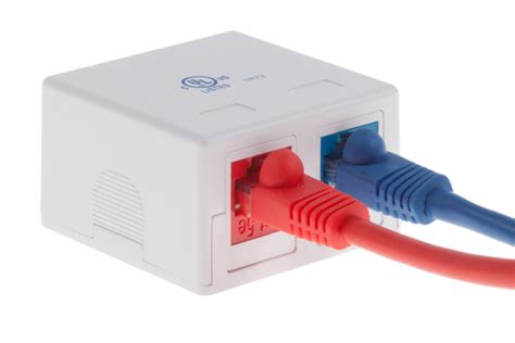 Contactboxes For Those Who Cables by Keystone Surface Mount Box 2 Port White Fast Shipping