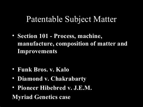patent law section 101 patents and biotechnology a presentation by dr kalyan