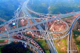Bridges seen on newly-built Enshi-Qianjiang Highway in China's Hubei ... Motorway
