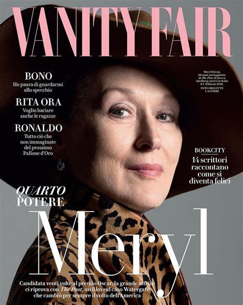 sulla vanit meryl streep divina sulla cover di vanity fair italia