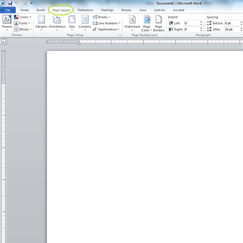 microsoft word page layout default changing default paper size of microsoft word 2010