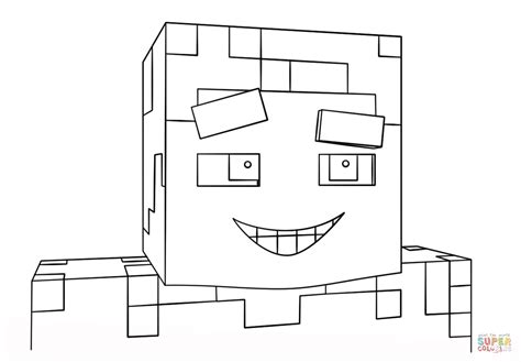 coloring pages of minecraft steve minecraft smiling steve coloring page free printable