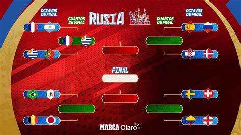 cuartos de final mundial 2018 rusia ya hay un cruce seguro en cuartos de