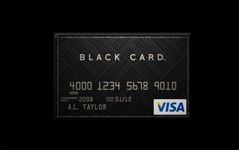 Credit Card Black Template Glorious Days Visa Black Card