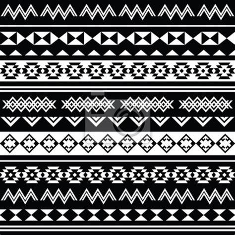 easy tribal pattern black and white fotobehang aztec tribal seamless black and white pattern
