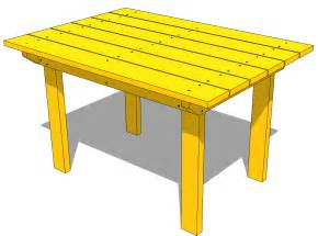 Wood Patio Table Plans Patio Table Plans