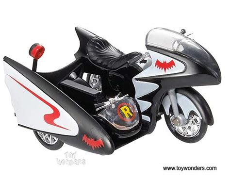 Wheels Batman The Bat Signature Mattel Ori 1966 Tv Diecast Cars Series Batcycle Sidecar By