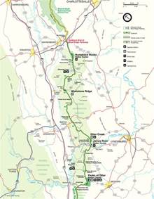 map of blue ridge blue ridge parkway maps
