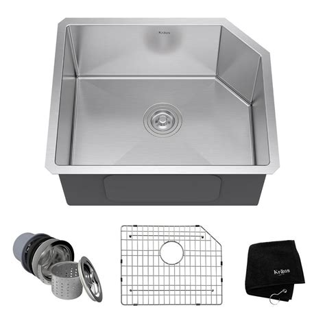 kitchen sink kit kraus farmhouse apron front stainless steel 33 in single basin kitchen sink kit khf200 33 the