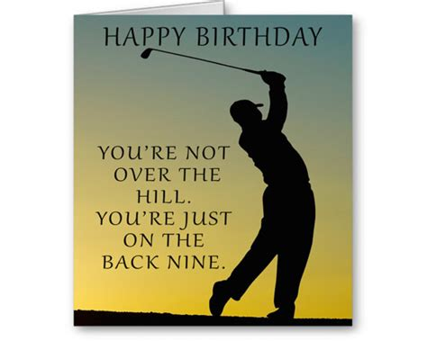 over the hill 60th birthday poems funny golf birthday card you re not over the hill you re