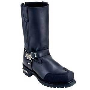 milwaukee mb411 s drag harness black leather biker boot