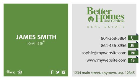 What Are The Properties For Buisness Card Templates by Better Homes And Gardens Business Cards 20 Templates