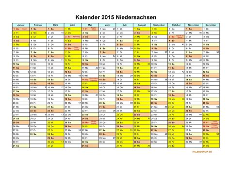 Kalender 2018 Zum Ausdrucken Mit Ferien Niedersachsen Sommerferien 2015 Und 2016 Kalender 2015 Niedersachsen Kalen
