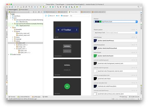 themes android studio android toggling your app s theme chris blunt
