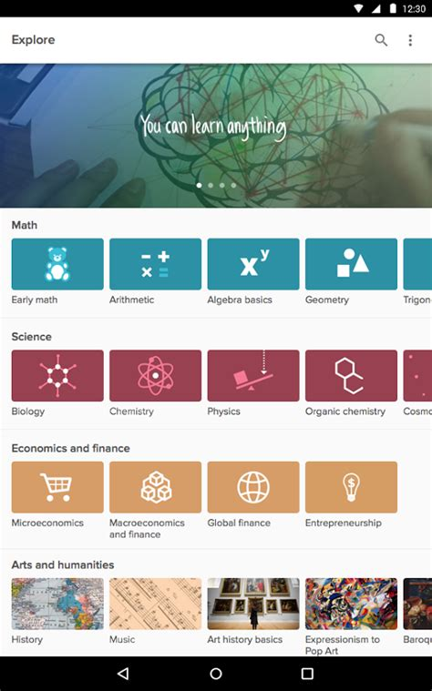 khan academy android khan academy android apps on play