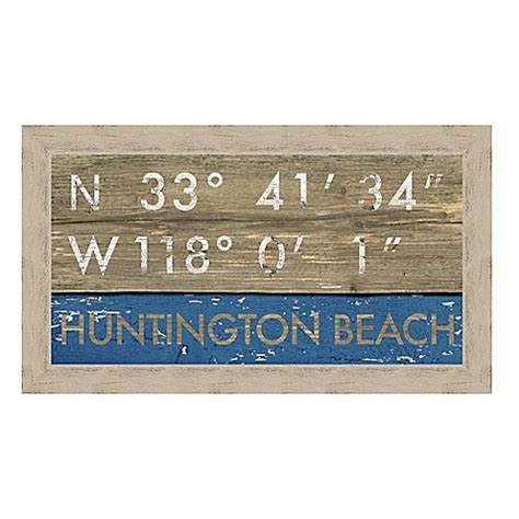bed bath and beyond huntington beach buy framed gicl 233 e huntington beach ca coordinates print