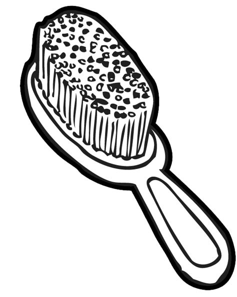 coloring page hair brush dog comb cliparts 203665