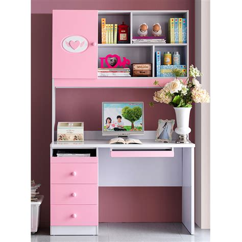 girls bedroom sets with desk kids suite matching pink rectangular desk computer girl