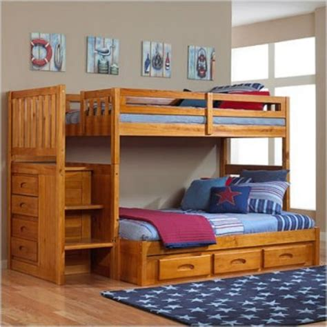 wood bunk beds twin over full awesome twin over full bunk bed with trundle and stairs