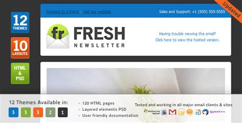 mymail newsletter templates 40 cool email newsletter templates for free