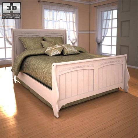 cottage retreat bedroom set ashley cottage retreat sleigh bedroom set 3d model humster3d