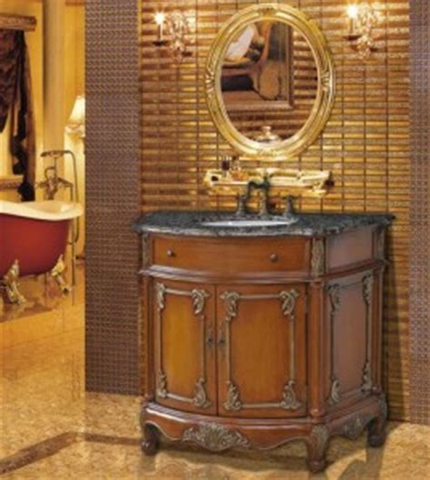 a selection of antique bathroom vanities with unique aged
