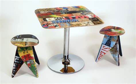 skateboard furniture the art of up cycling upcycled furniture amazing ideas