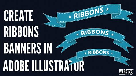 design large banner in illustrator illustrator tutorial how to create a simple ribbons or