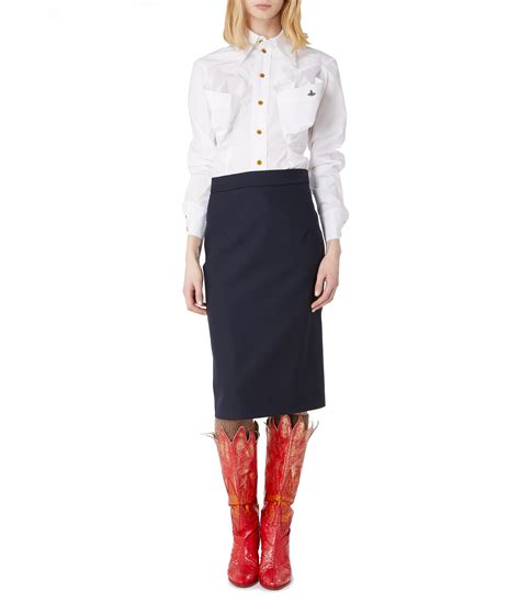 pencil skirt navy vivienne westwood