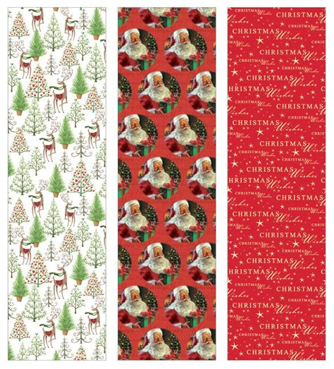 premium christmas gift wrap timeless traditional heavey weight thick wrapping paper  men