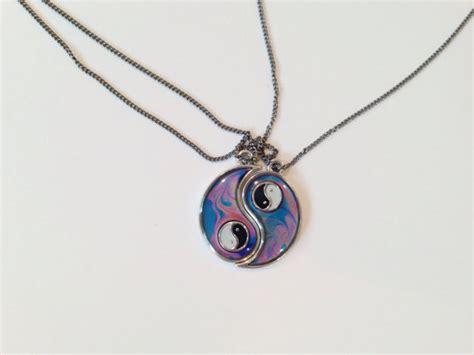 yin yang mood friendship necklaces