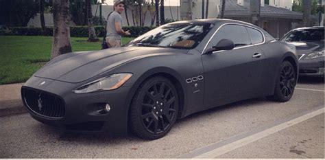 black maserati cars car daily matte black maserati