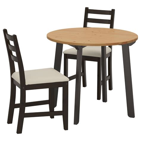 black table and chairs lerhamn gamlared table and 2 chairs light antique stain