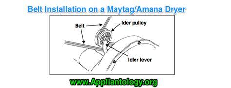 belt diagram for maytag dryer belt installation on a maytag amana dryer the