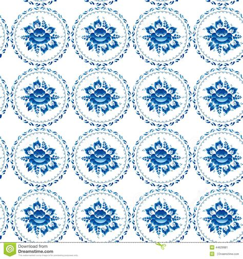 vintage shabby chic seamless ornament pattern blue flowers