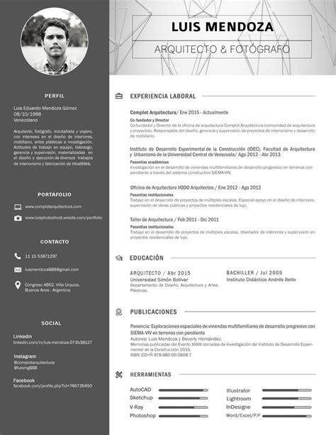 Modelo Curriculum Vitae Arquitecto cv arquitecto luis mendoza arquitectos interiores y luis