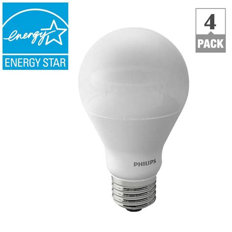 Lu Led Philips Warm White philips 40w equivalent soft white a19 dimmable led with warm glow light effect light bulb 4