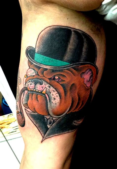english tattoos 36 best images about bulldog tattoos on
