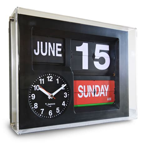 Calendar Clock Jadco Time Calendar Clock With Day Spelt In Jadco