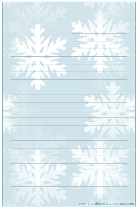 printable winter writing paper lined 4 best images of printable christmas lined writing paper