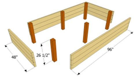elevated bed frame plans raised garden bed plans raised garden bed plans