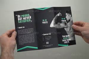 fitness brochure tri fold by coxsumon graphicriver