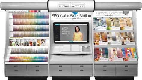 ppg voice of color ppg the voice of color paint color palette kiosk