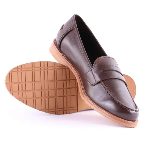womens brown loafer shoes barbour loafer womens casual shoes in brown