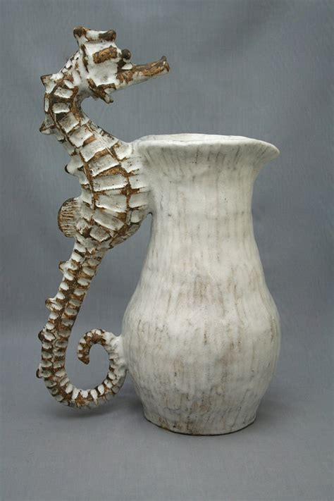seahorse pitcher murano glass gifts  world art