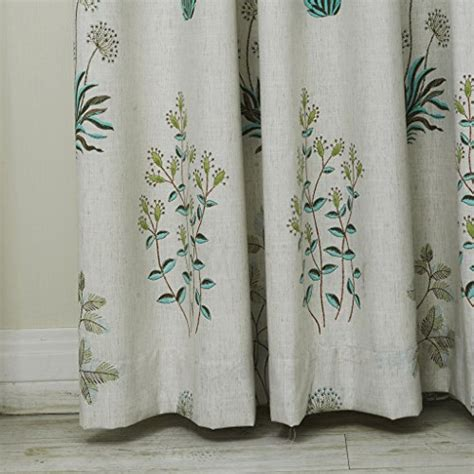 botanical print curtains iyuegou country botanical grass print cotton linen eco