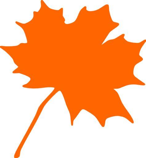 Orange Leaf Clipart orange leaf clip at clker vector clip