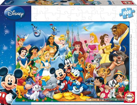 1000 st puzzel: Disney Family   THE WONDERFUL WORLD OF