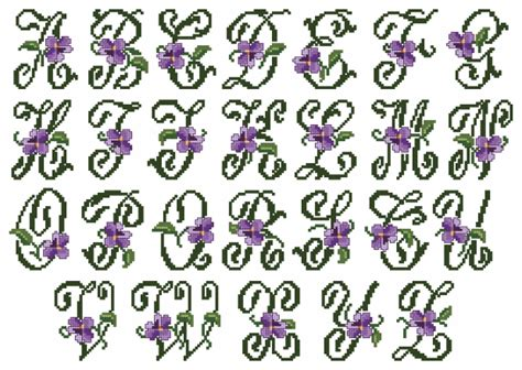 violets xs alphabet small